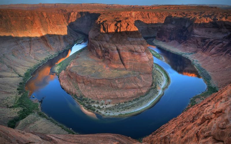 landscapes deserts Arizona horseshoe bend rivers wallpaper