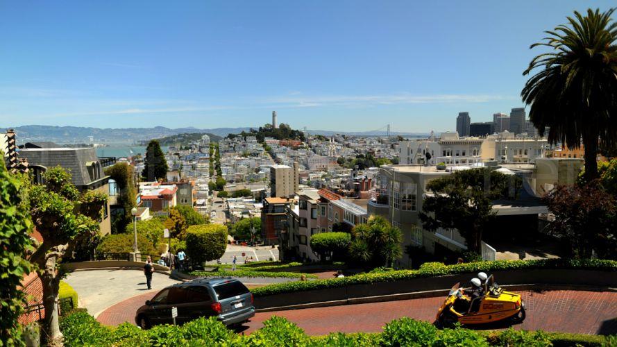 streets architecture San Francisco wallpaper