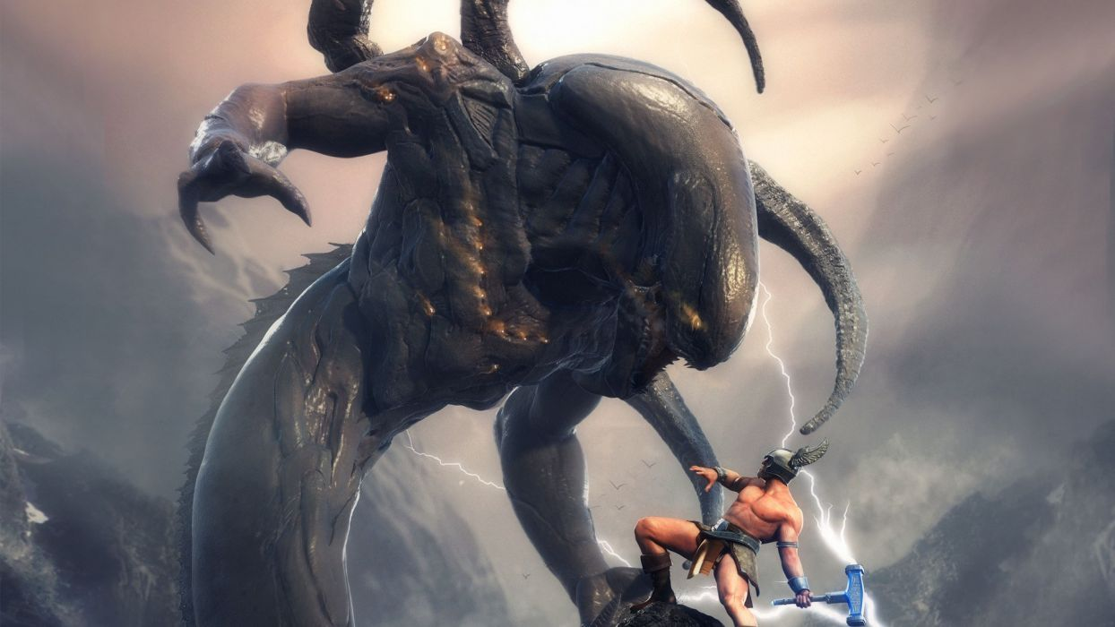 Thor artwork warriors Mjolnir wallpaper