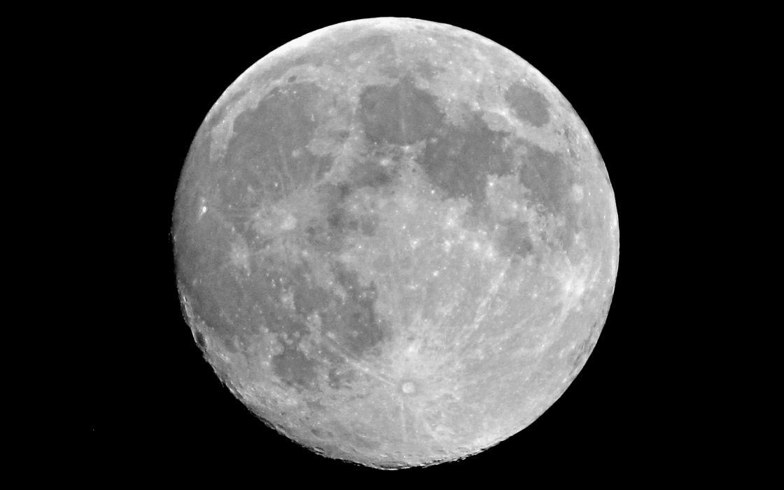 Moon black background wallpaper