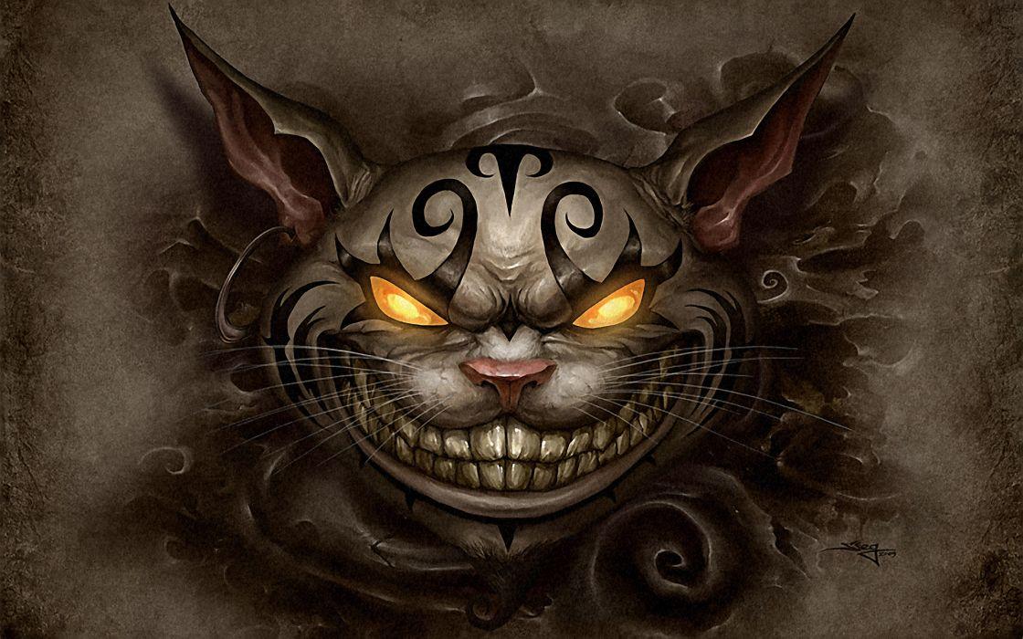 Artwork Alice Madness Returns Cheshire Cat Wallpaper 1920x1200