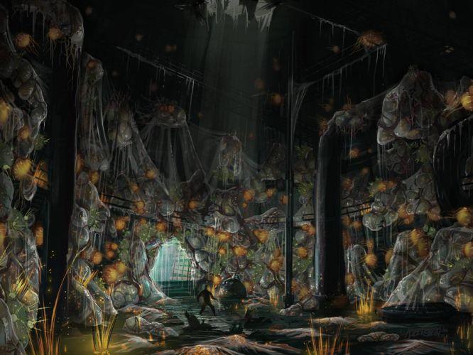 horror video games concept art artwork Singularity horror game wallpaper