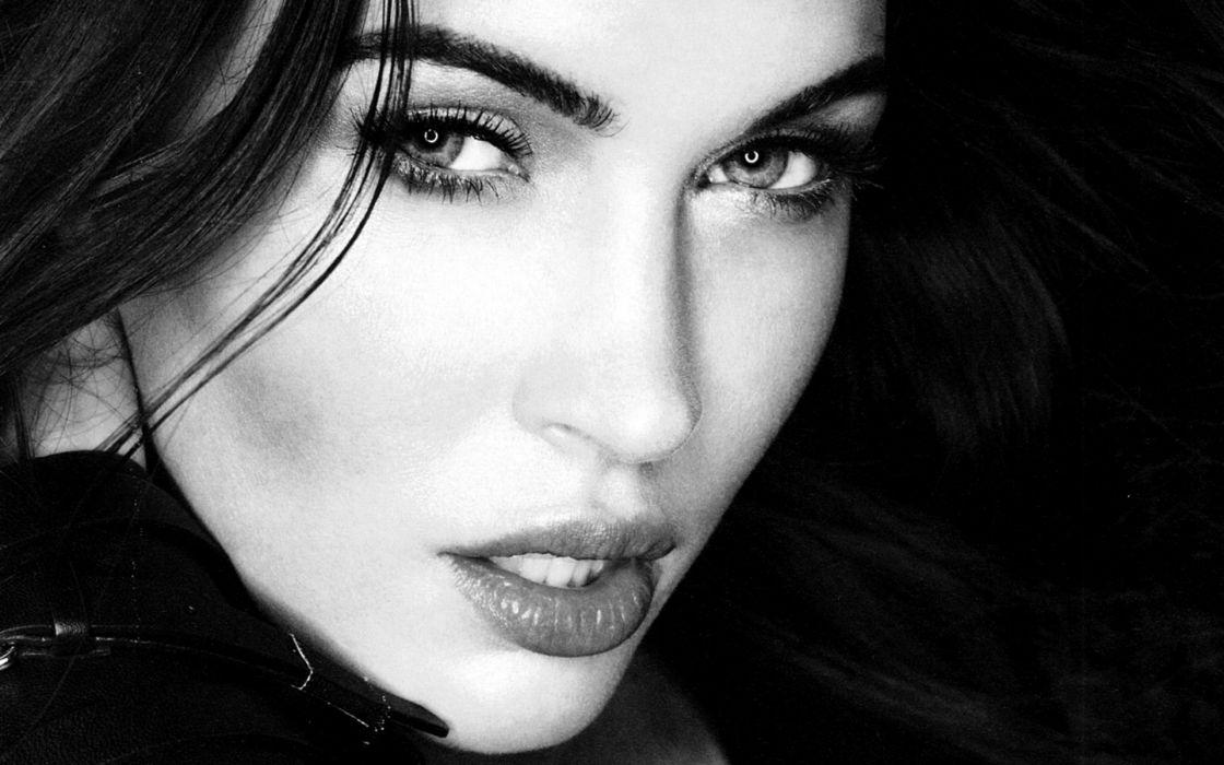 brunettes women black and white Megan Fox models grayscale Esquire Magazine juice wallpaper