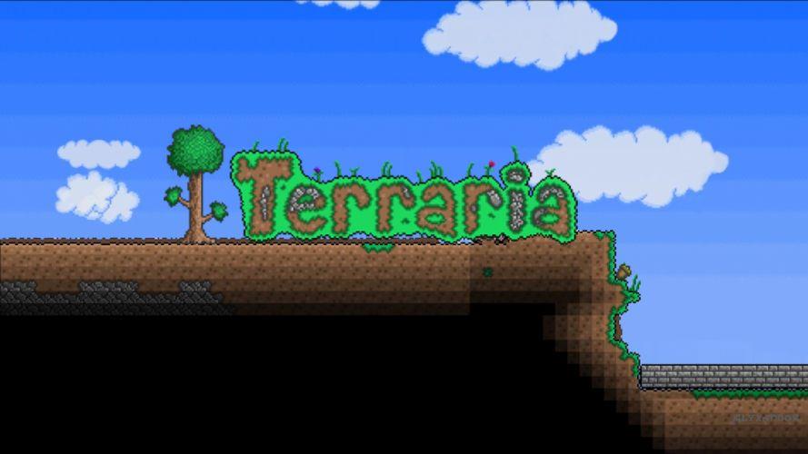 video games Terraria wallpaper