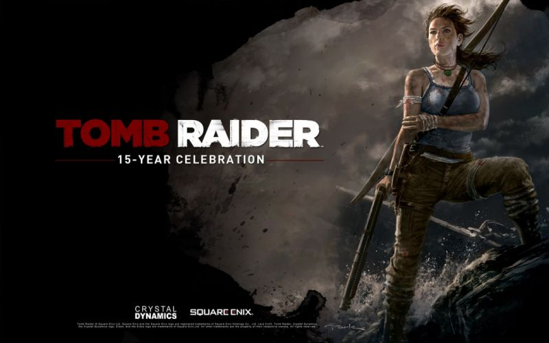 video games Tomb Raider Lara Croft artwork celebration wallpaper