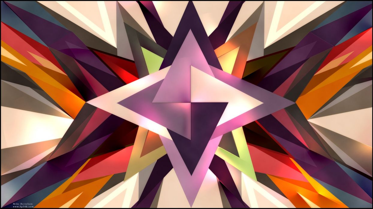 abstract multicolor spikes photo manipulation colors sp34k triangles wallpaper