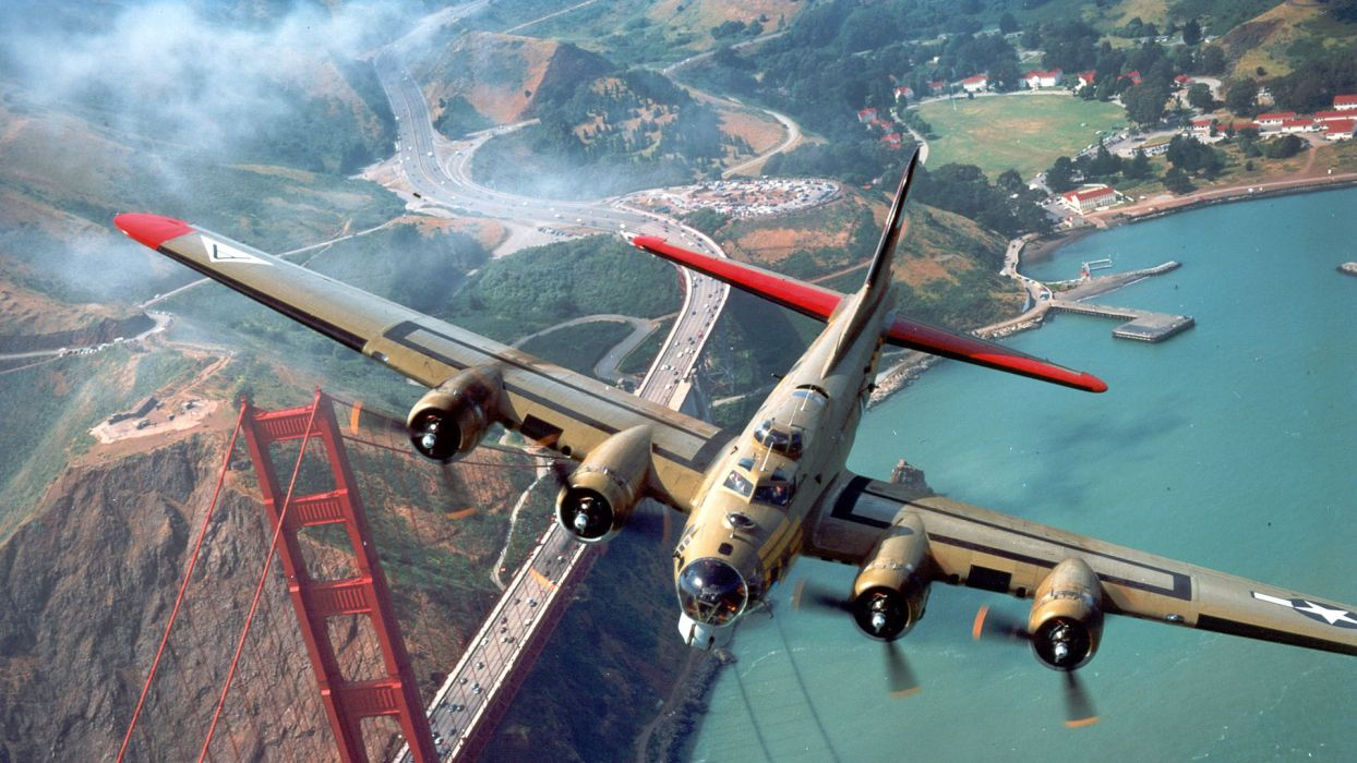 aircraft military bomber B-17 Flying Fortress wallpaper