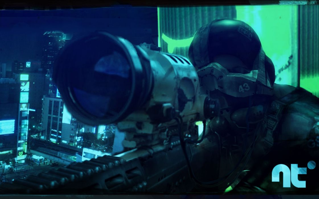 video games military weapons neotokyo recon wallpaper