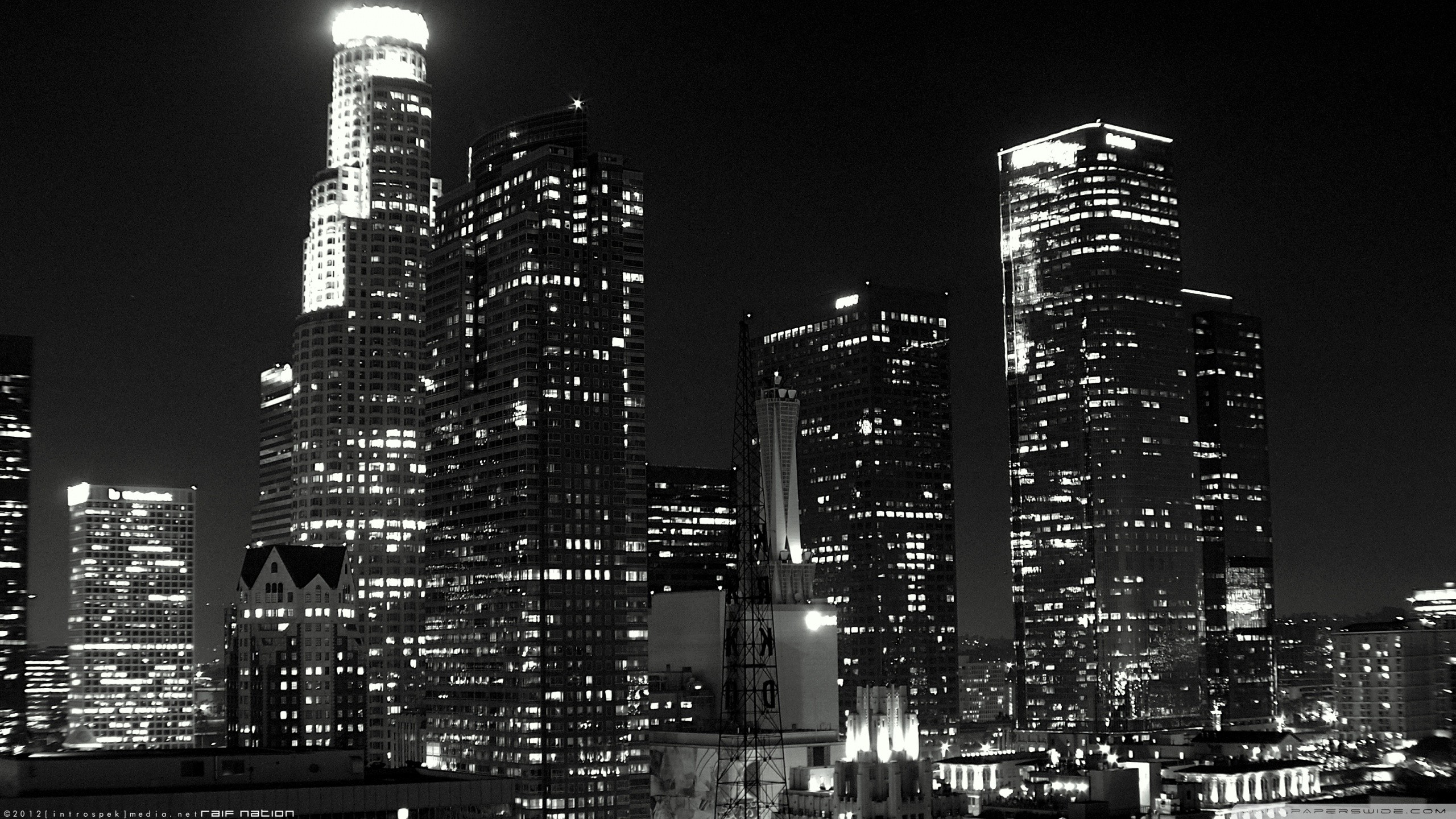 Black And White Cityscapes Buildings Los Angeles Wallpaper 2560x1440 189937 Wallpaperup