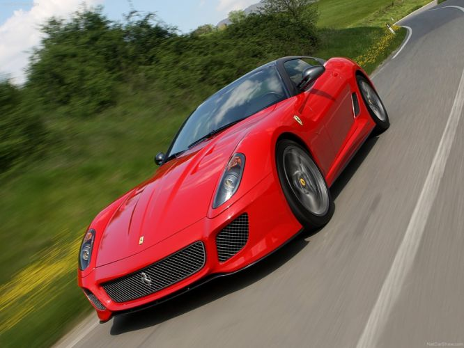 streets red cars Ferrari 599 Ferrari 599 GTO wallpaper