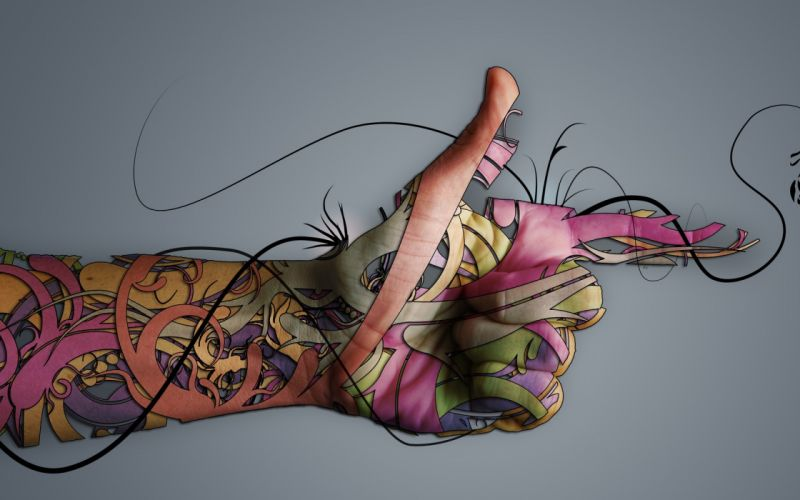 tattoos abstract hands colors wallpaper