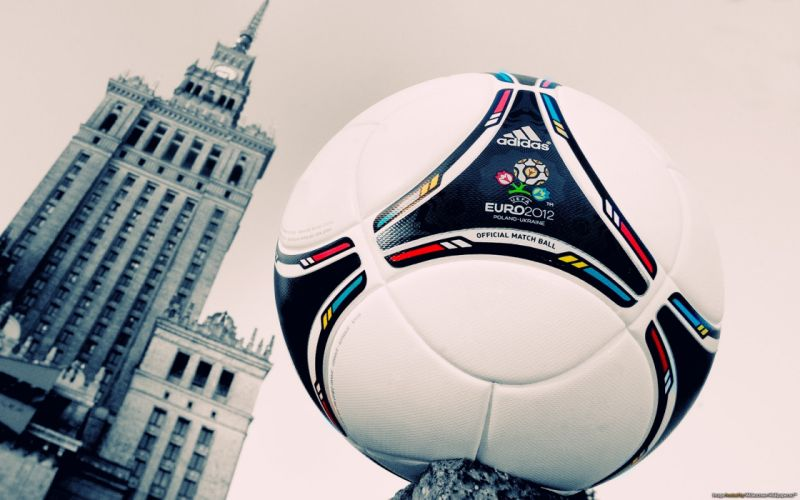 soccer balls Warsaw euro 2012 wallpaper