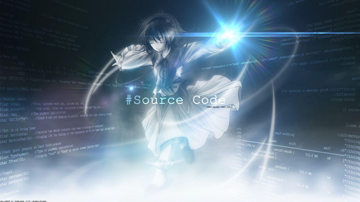 Video games touhou text typography deviantart code digital art komeiji satori source code anime girls wallpaper
