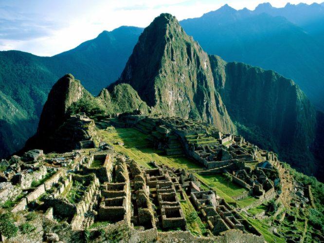 landscapes nature ruins Machu Picchu abandoned city wallpaper