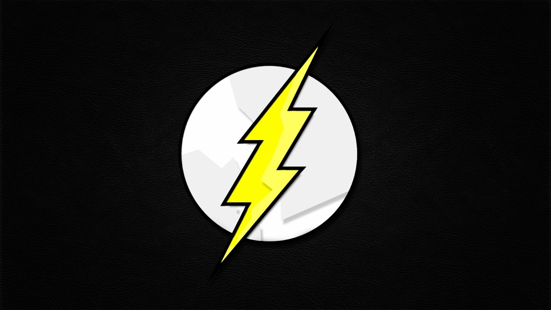 Minimalistic Dc Comics Comics The Flash Logos Flash Superhero Wallpaper 1920x1080 190024 Wallpaperup