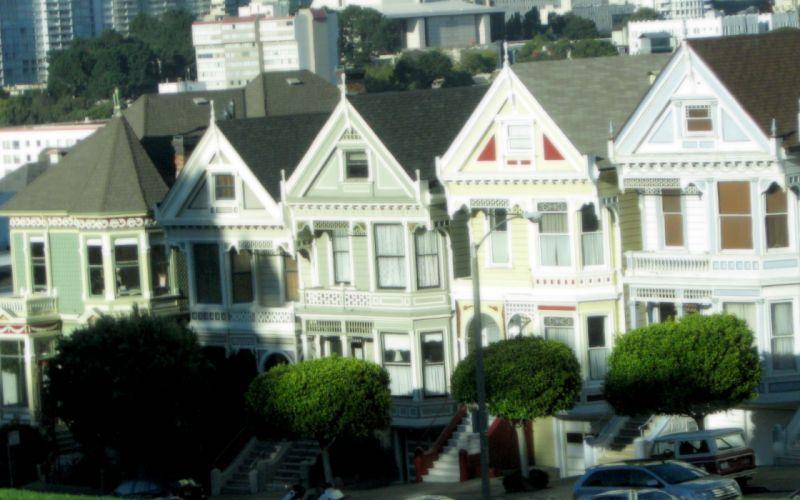 cityscapes houses San Francisco wallpaper