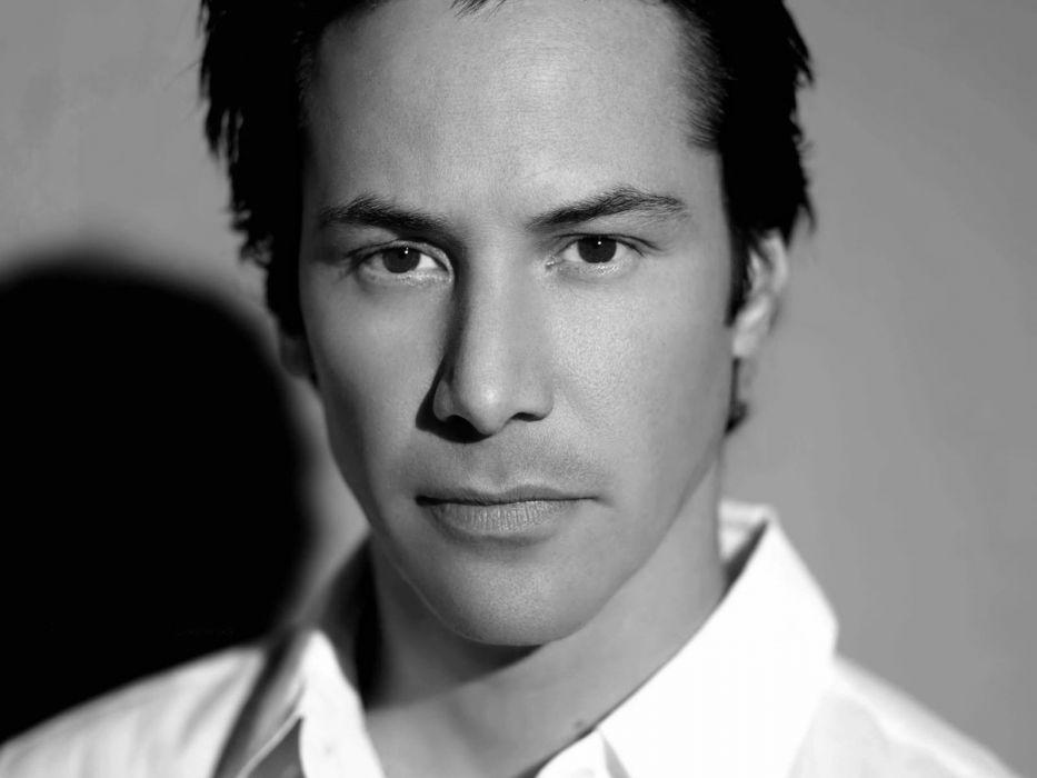 Men Keanu Reeves Grayscale Actors Faces Wallpaper 1600x1200