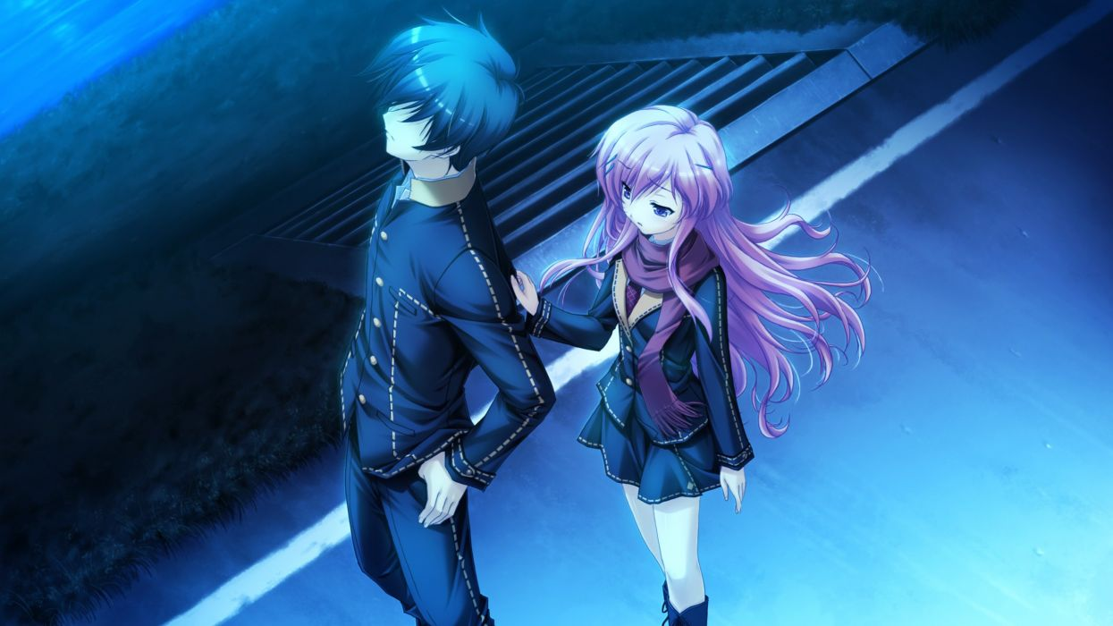 long hair pink hair game CG anime Makita Maki Shinigami no Testament Mukougaoka Kana wallpaper