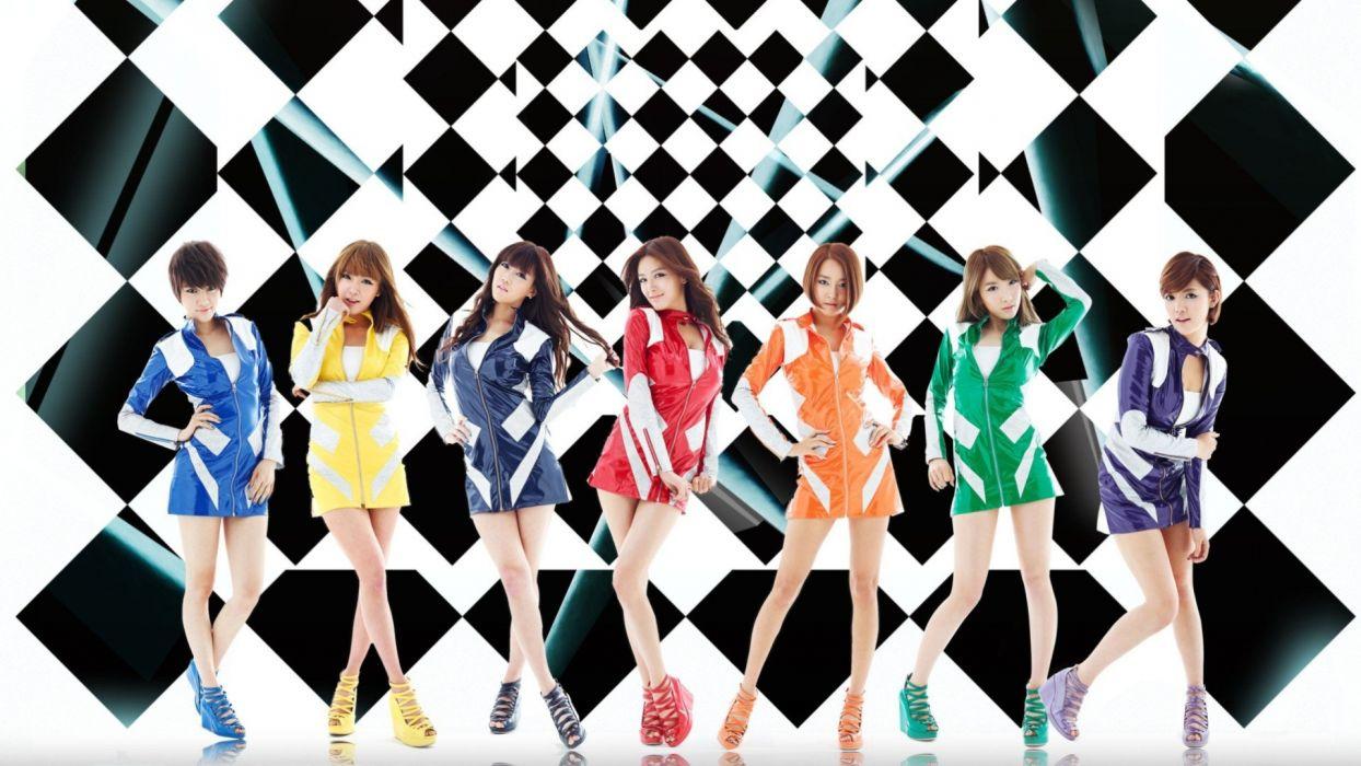 Women Rainbows Asians K Pop South Korea Rainbow Band
