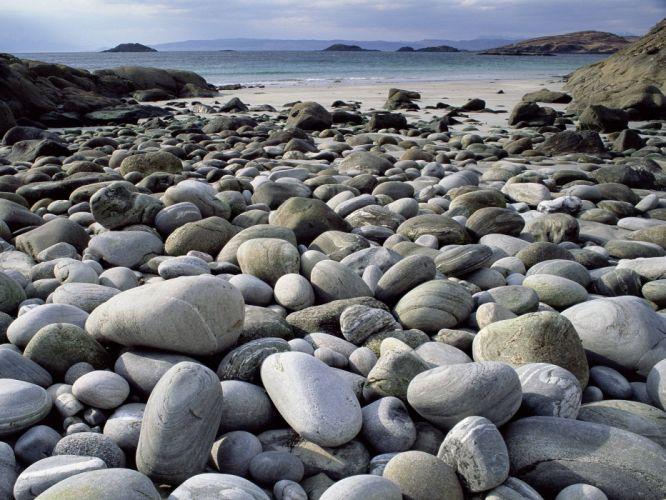 stones Scotland beaches wallpaper