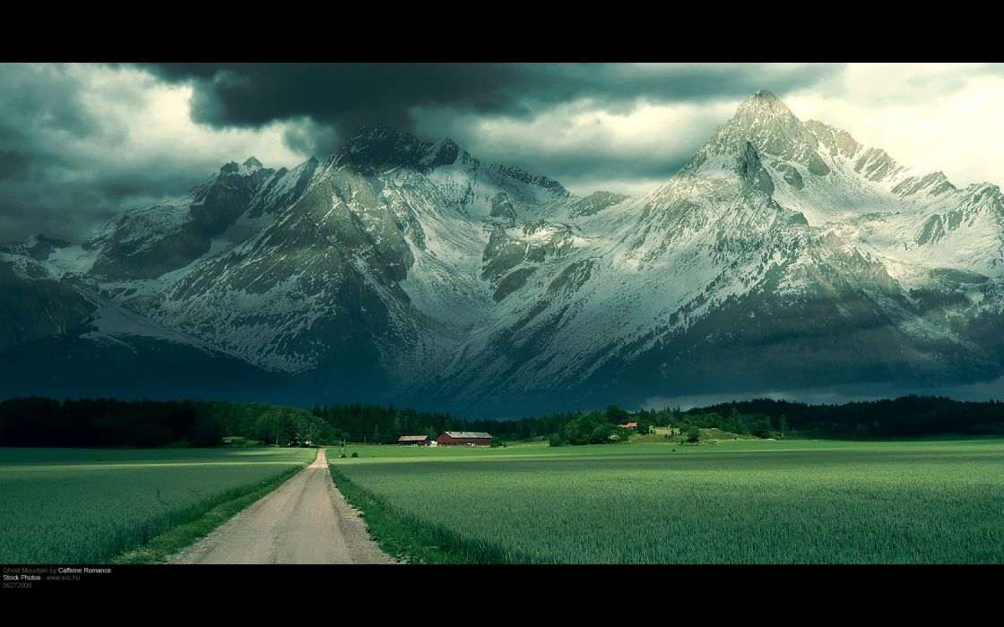 mountains landscapes ghosts roads wallpaper