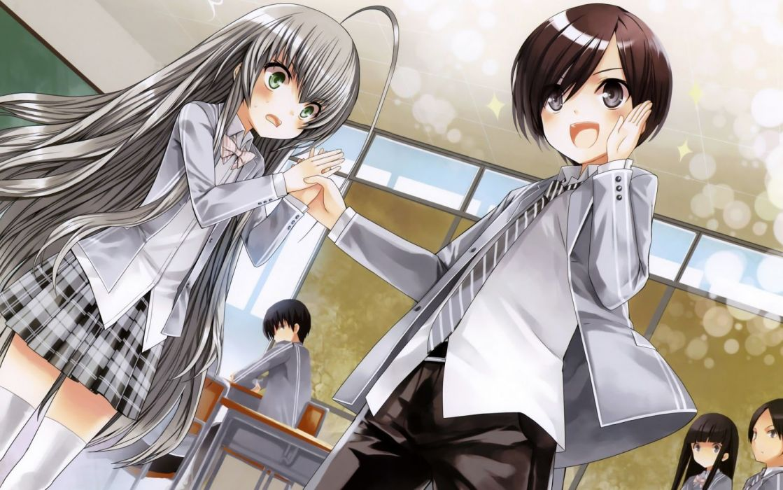 anime anime girls Haiyore! Nyaruko-san Nyaruko Yasaka Mahiro wallpaper