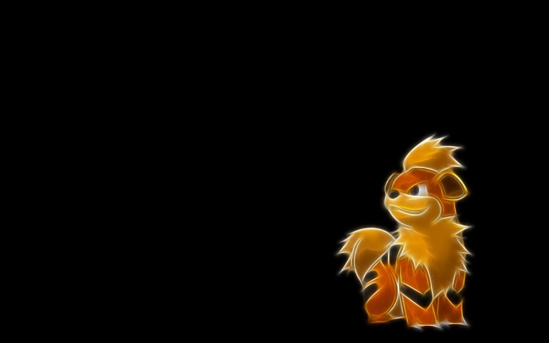 Pokemon simple background black background Growlithe wallpaper