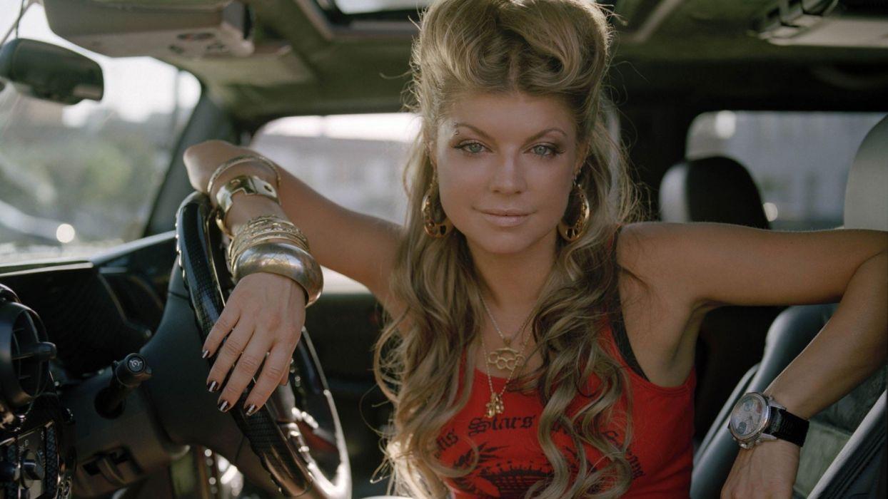 blondes women Fergie singers wallpaper