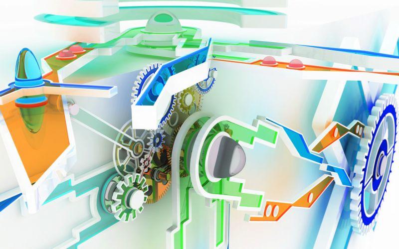CGI gears chromatic K3 Studio wallpaper