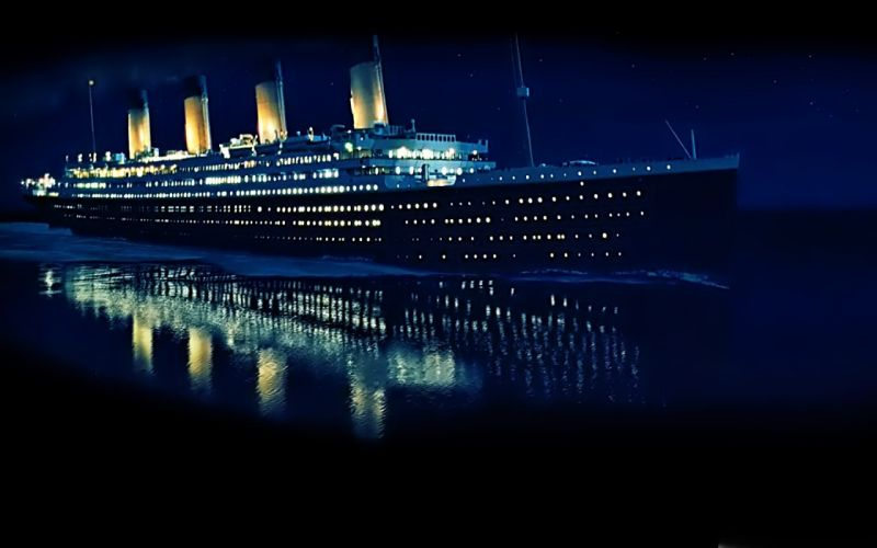 water ocean ships Titanic vehicles reflections wallpaper