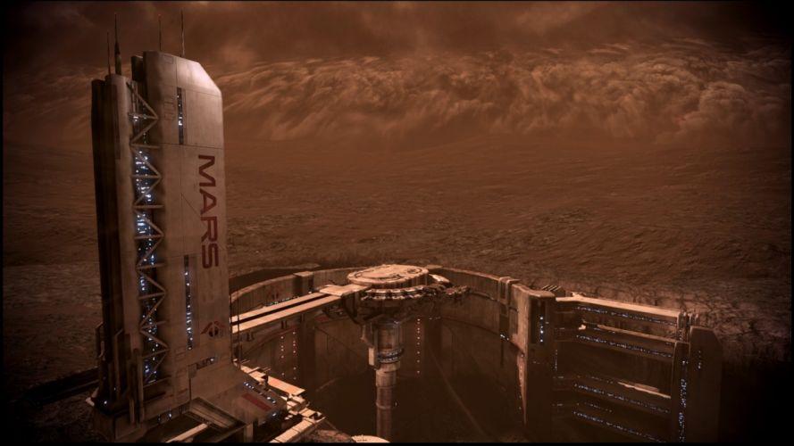 Mars Mass Effect fantasy art digital art wallpaper