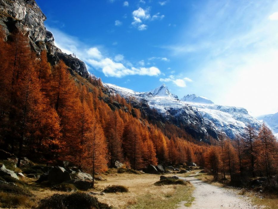 mountains clouds landscapes nature forests wallpaper