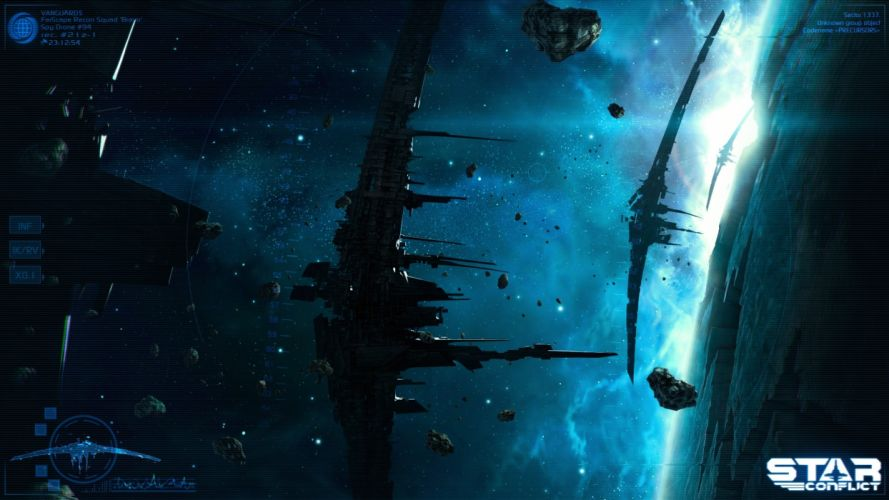 video games outer space stars fantasy art science fiction conflict wallpaper