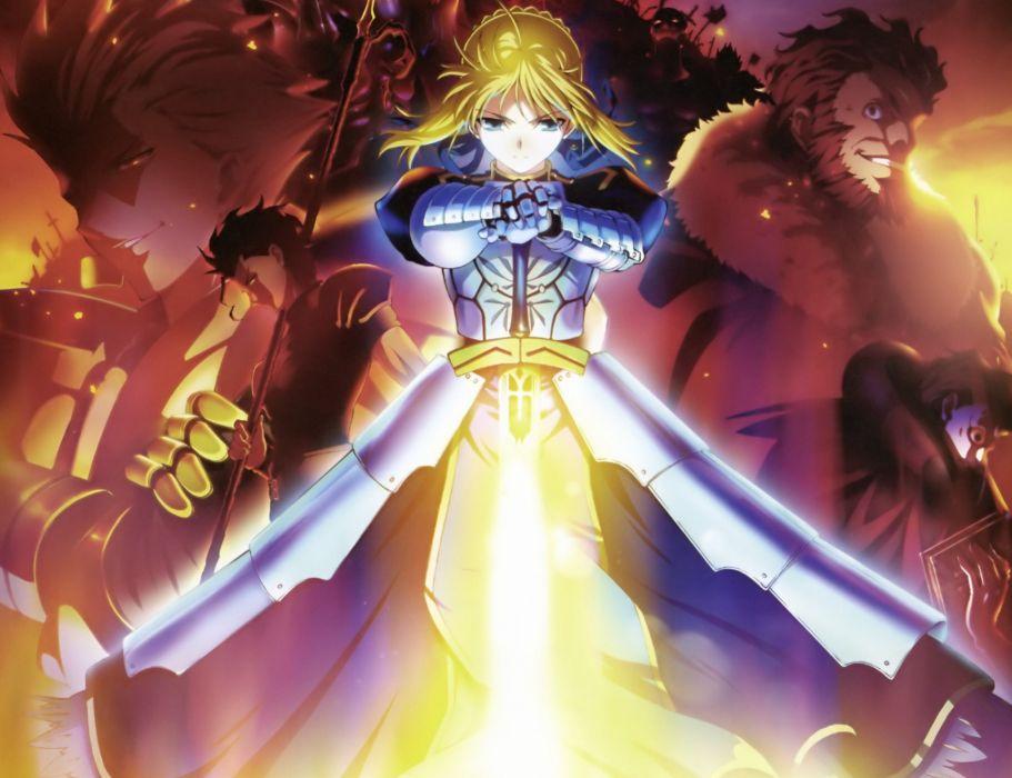 Fate/Stay Night Gilgamesh Saber  Fate/Zero anime girls Rider (Fate/Zero) Caster (Fate/Zero) Lancer (Fate/Zero) Assassin (Fate/Zero) Fate series wallpaper
