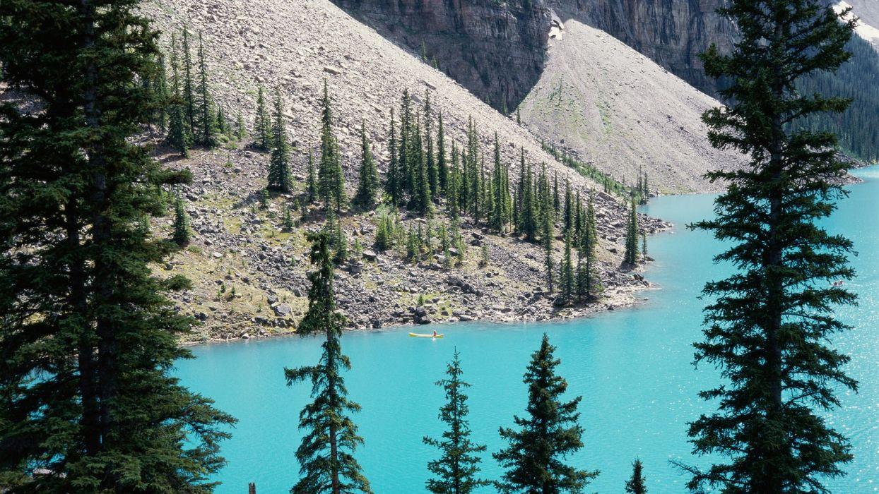 landscapes Canada Alberta lakes Banff National Park National Park Moraine Lake wallpaper