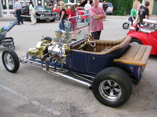 hot rod rods retro 1923 Ford engine f wallpaper