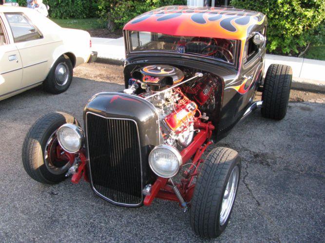 hot rod rods retro 1931 Ford engine f wallpaper
