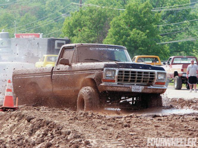 MUD-BOGGING 4x4 offroad race racing monster-truck race racing pickup ford f wallpaper