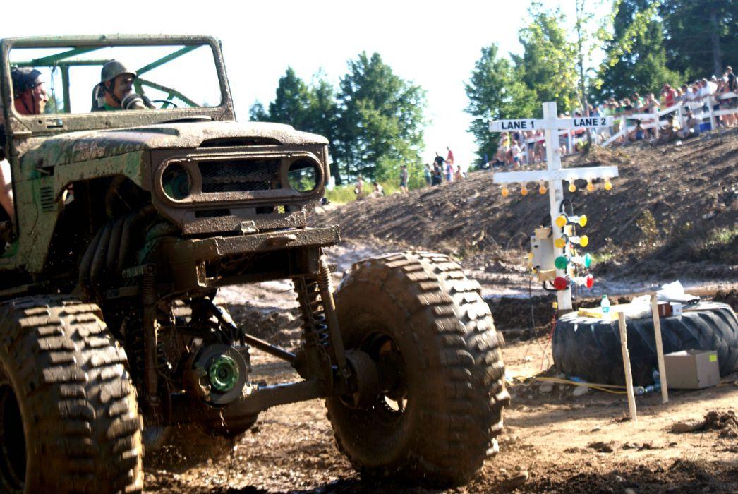 MUD-BOGGING 4x4 offroad race racing monster-truck race racing toyota      gj wallpaper
