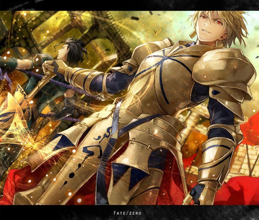 Gilgamesh anime boys Fate/Zero Lancer (Fate/Zero) Fate series wallpaper