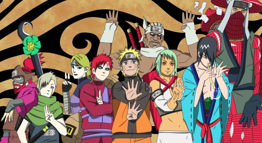 Naruto: Shippuden Gaara Uzumaki Naruto Jinchuuriki Killer Bee Utakata Nii Yugito wallpaper