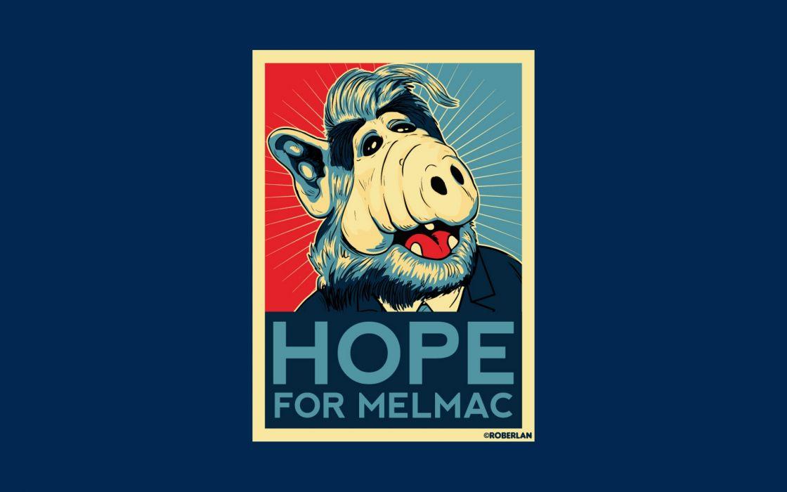 Alf Melmac blue background wallpaper