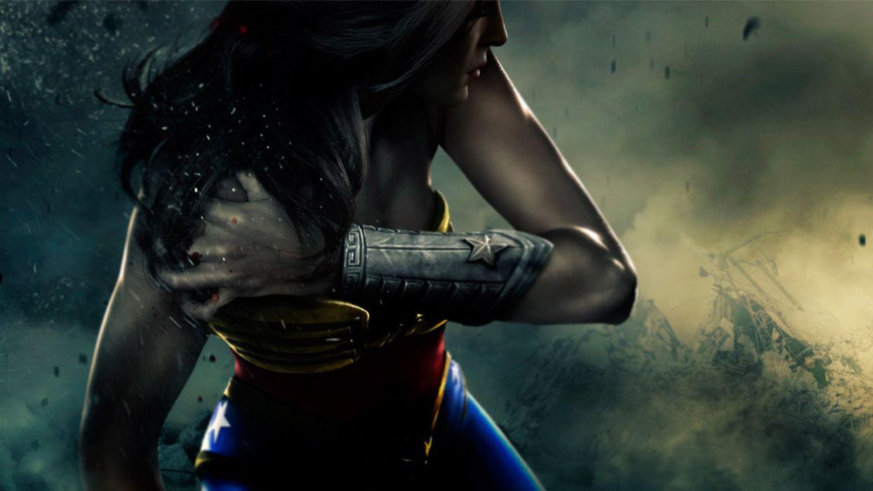 Women Video Games Artwork Injustice Gods Among Us Wallpaper