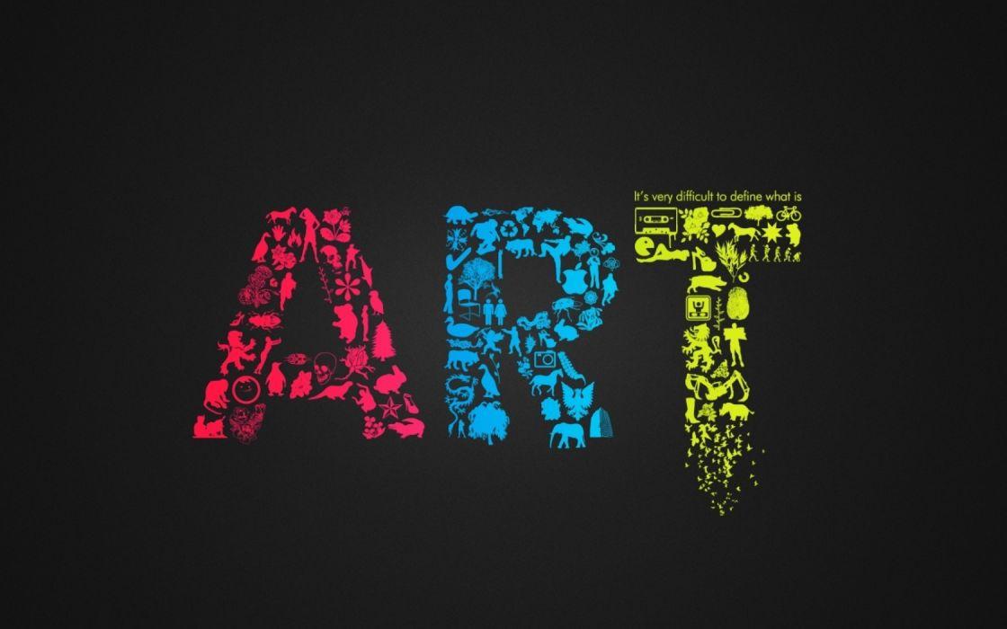 multicolor typography artwork wallpaper