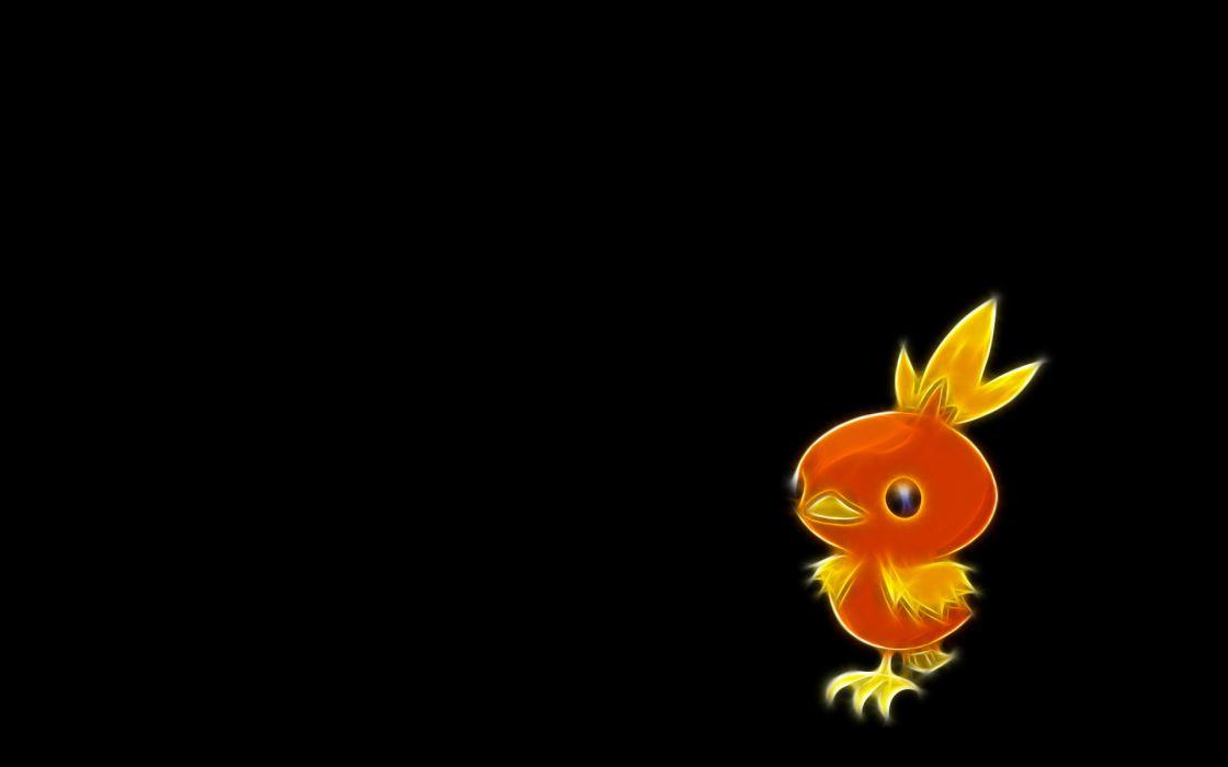 Pokemon Torchic black background wallpaper