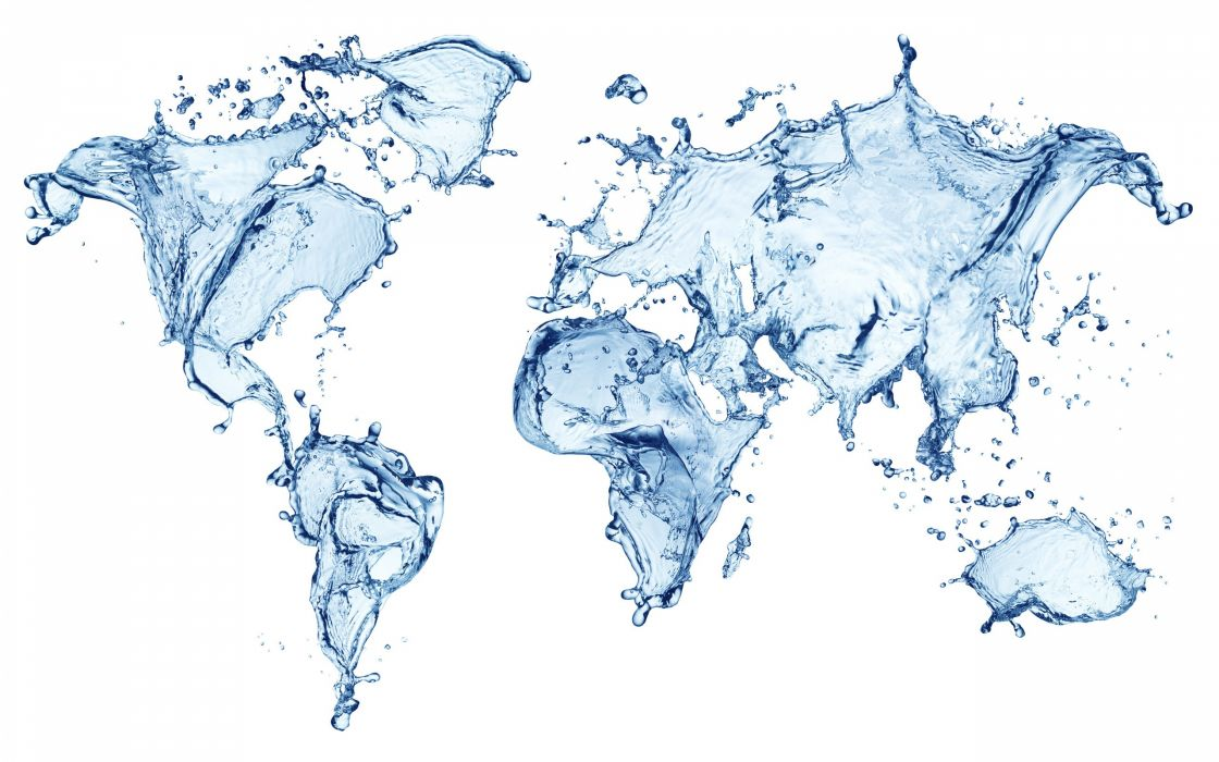 Water Abstract Maps World Map Wallpaper 2560x1600 191339