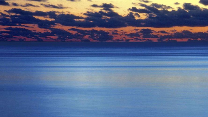 islands French Polynesia Moorea dusk lagoon skyscapes wallpaper