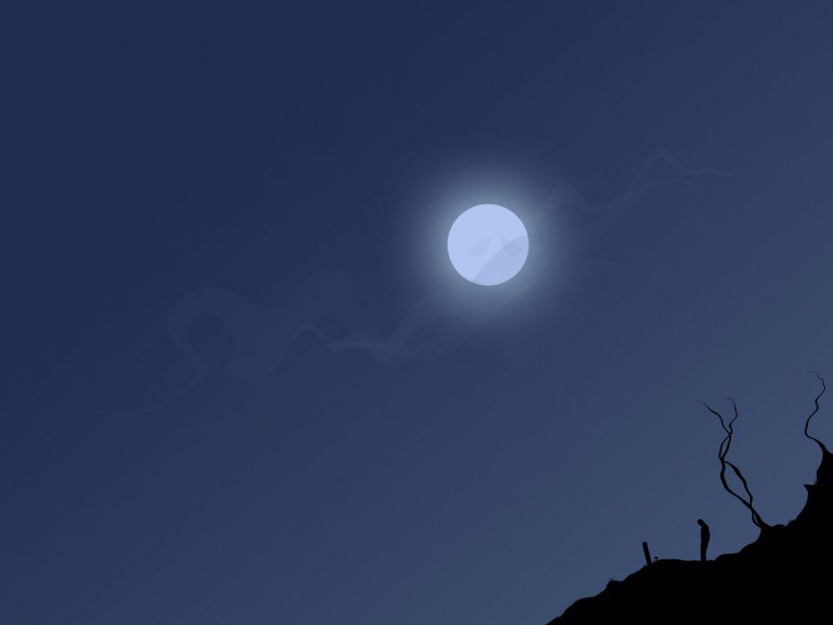 Moon vectors wallpaper