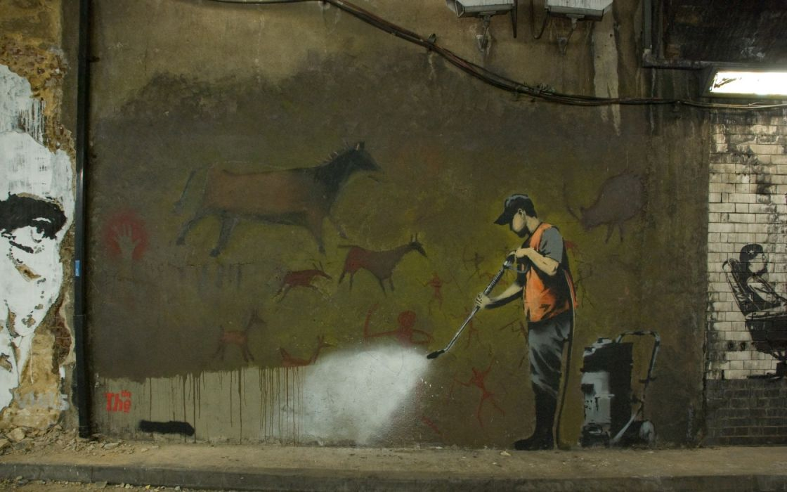 Banksy street art wallpaper