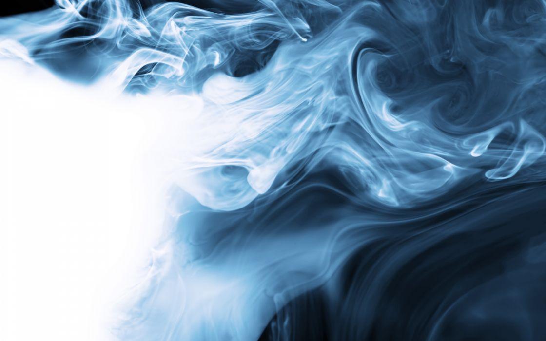 abstract blue smoke wallpaper